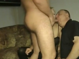 Cuckold Threesome bodystocking cuckold