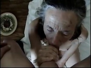 grandmother sex toy blowjob