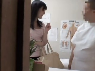 Heavy fingering for a Jap gal in erotic voyeur massage video japanese asian