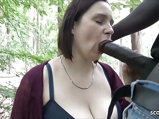 Berlin Street Hooker Quick Fuck Outdoor in Park by Big Black hardcore bbw