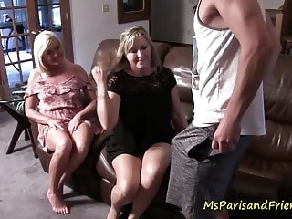 Mommy's Friend is As Slutty as Her blowjob amateur