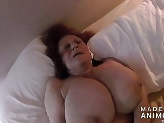 Son of a bitch Timmy Fucks his 83yr Old Girlfriend blowjob amateur